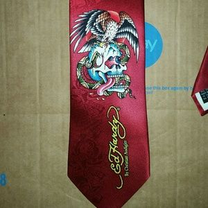 Ed Hardy Accessories - Ed Hardy By Christian Audigier Men Necktie Skull